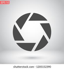 diaphragm vector icon 10 eps