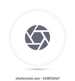 Diaphragm vector icon 10 eps, Flat design