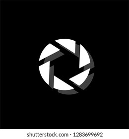 Diaphragm. White flat simple icon with shadow