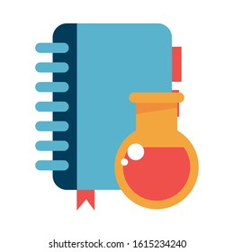 diary agend with tube test laboratory vector illustration design