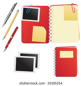 Diary/journal vector set