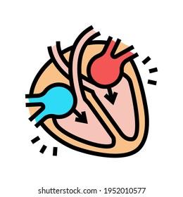 diastole disease color icon vector. diastole disease sign. isolated symbol illustration