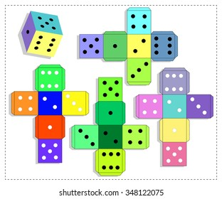 dice games paper dice template vector stock vector royalty free
