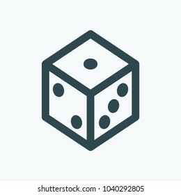 Dice for board games vector icon