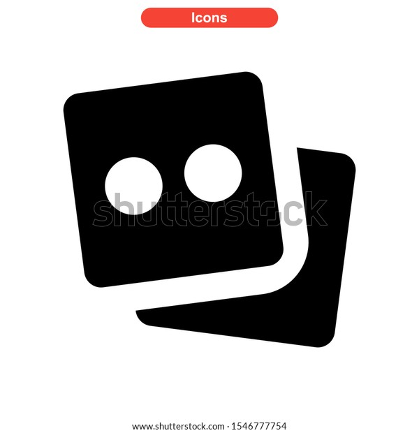 dice icon isolated sign symbol vector illustration - high quality black style vector icons