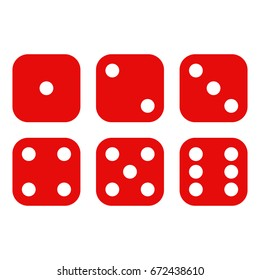 Dice on a white background. Vector illustration