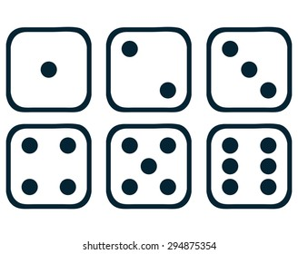 Dice Set, Vector Illustration.