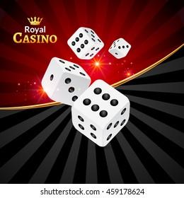 Dice vector casino design background. Dice gambling template concept. Casino background.