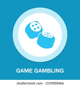 Dices icon, game gambling, luck sign