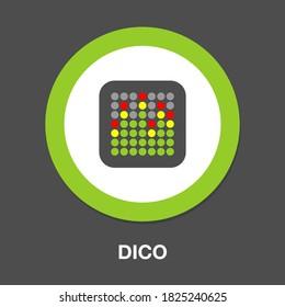 dico icon - Flat vector illustration
