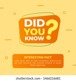 Did you know with big question mark