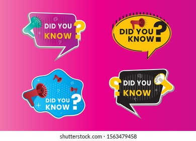 Did you know in the form of text for Label stickers, banners with speech bubbles