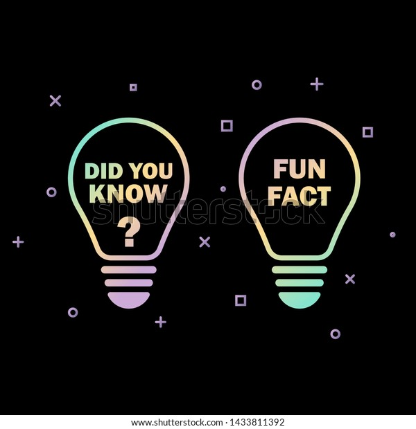 Did You Know Fun Fact Text Stock Vector (Royalty Free