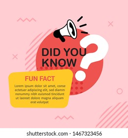 Did you know with megaphone and big question mark in flat style