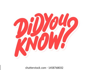 Did you know? Vector banner.