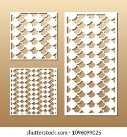 Die Cut Card Laser Cut Vector Stock Vector (Royalty Free) 1096099112