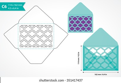 cutout paper envelope template perfect making stock vector royalty