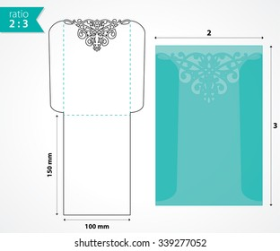 Die cut pocket envelope template.
