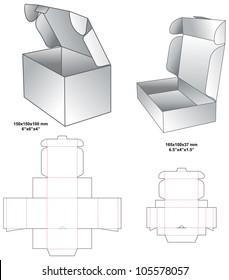 die horizontal gift box