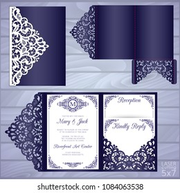 Wedding Invitation Template Laser Cut Images Stock Photos