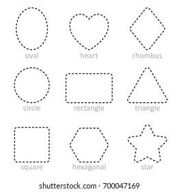 Die line Set of geometric shapes