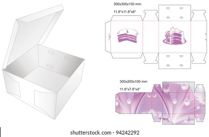 die stamp box for cake