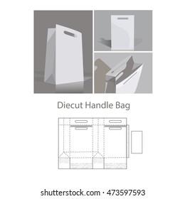 diecut handle bag
