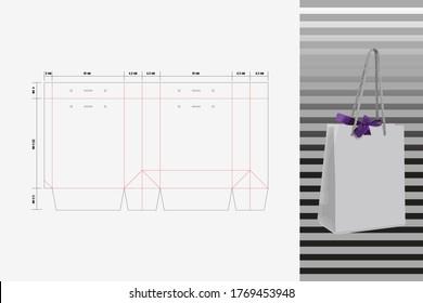 Diecut Line Paper Block Bag - Shutterstock ID 1769453948