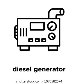 diesel generator icon isolated on white background, vector illustration, diesel generator logo concept