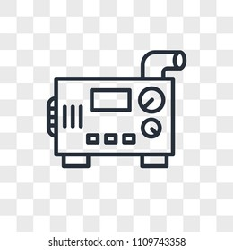 diesel generator vector icon isolated on transparent background, diesel generator logo concept