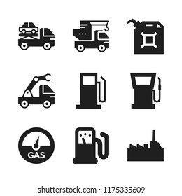 diesel icon. 9 diesel vector icons set. petrol station, gas level and crane icons for web and design about diesel theme
