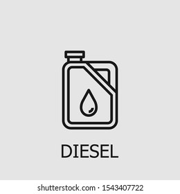 Diesel outline icon for web, mobile apps, games and etc. Vector diesel illustration.