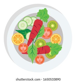 Diet, food Vector Illustration icon which can easily modify