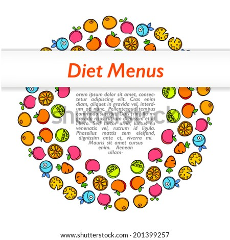diet menu design template design vector stock vector royalty free