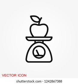Dietary vector icon, food dietary labels isolated on background