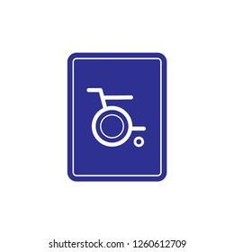 Difable Whell Icon. Whell Chair Vector Illustration Logo Template.