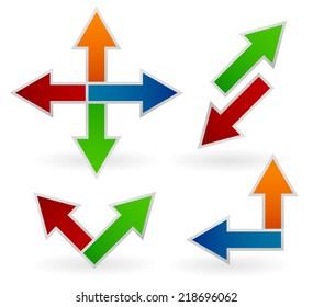 Different arrow compositions, arrow set