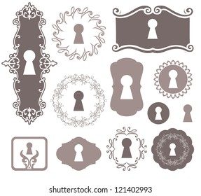different beautiful silhouettes keyholes decorated frame