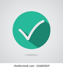 Different black vector check mark or tick in circle conceptual of confirmation acceptance positive passed voting agreement true or completion of task on a list. Flat illustration EPS10