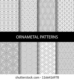 different brown patterns , formal and geometric design, Pattern Swatches vector Endless texture can be used for wallpaper, pattern fills, web page,background,surface