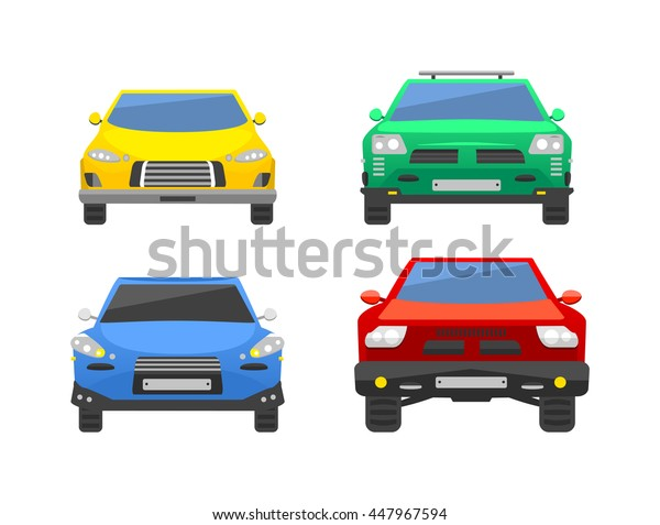 Different car vehicle transport type design sign technology style vector