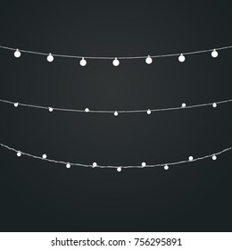 Rope lights stock images royalty free images vectors shutterstock different color lighting garland vector set on dark background christmas lights vector collection aloadofball Images