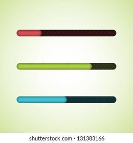 Different color vector progress bars