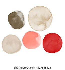 Different colors watercolor paint stains vector backgrounds set