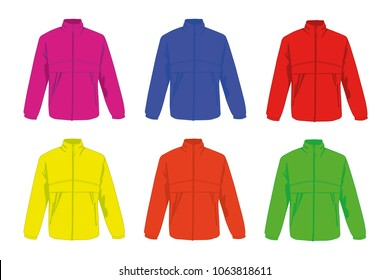 different colors windcheater