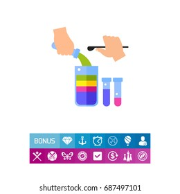 Different densities of liquids icon