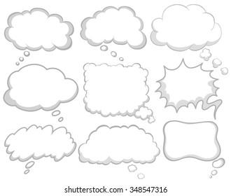 Different design of dream bubbles illustration
