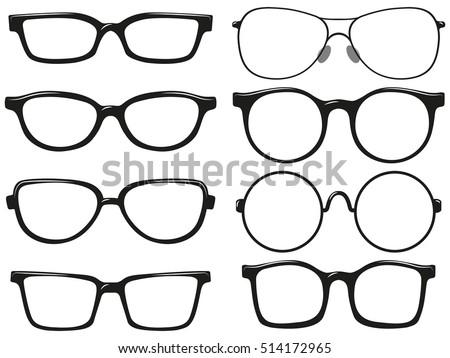 9ad52a5c4a Different design of eyeglasses frames illustration - Vector. vector glasses  clipart ...