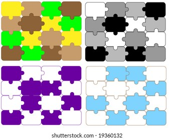 different design of puzzle background