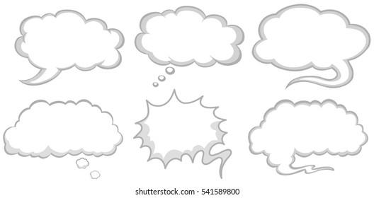 Different design of speech bubbles illustration